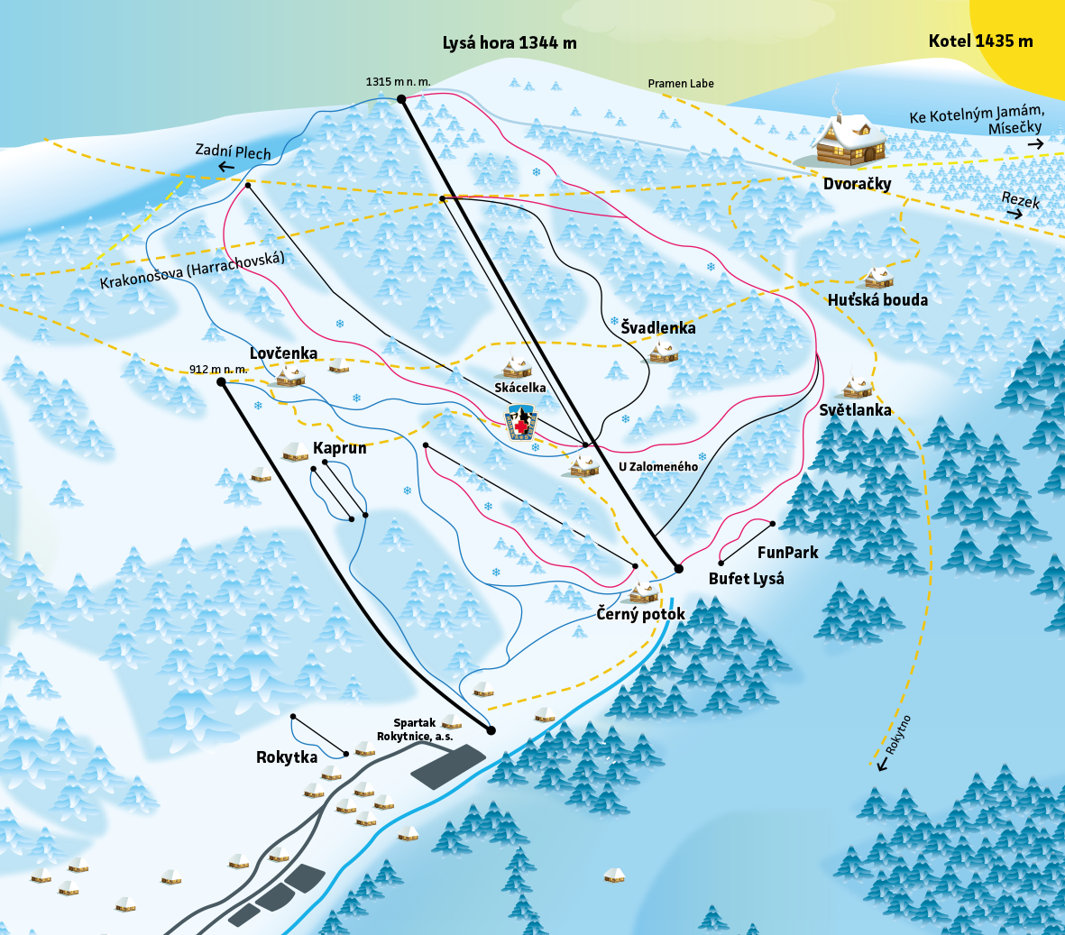 Map of the Ski resort